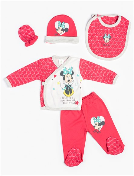 Disney Minnie Mouse 5li Yenidoğan Set 7976