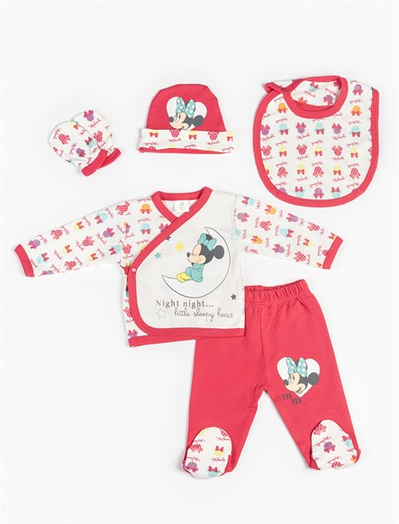 Disney Minnie Mouse 5li Yenidoğan Set 7975