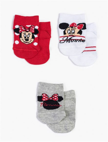 Disney Minnie Mouse Bebek Çorap 13011