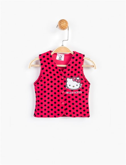 Hello Kitty Bebek Kadife Yelek 8892