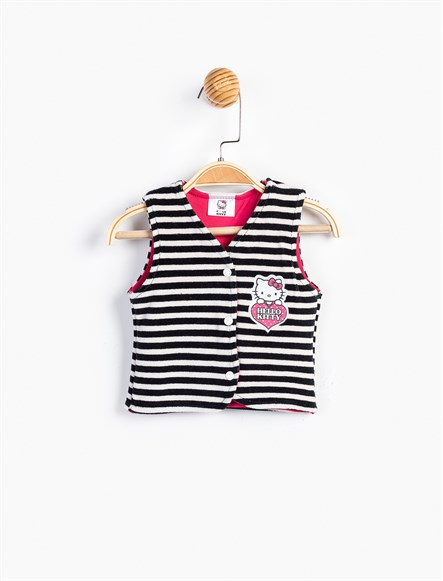 Hello Kitty Bebek Kadife Yelek 9105