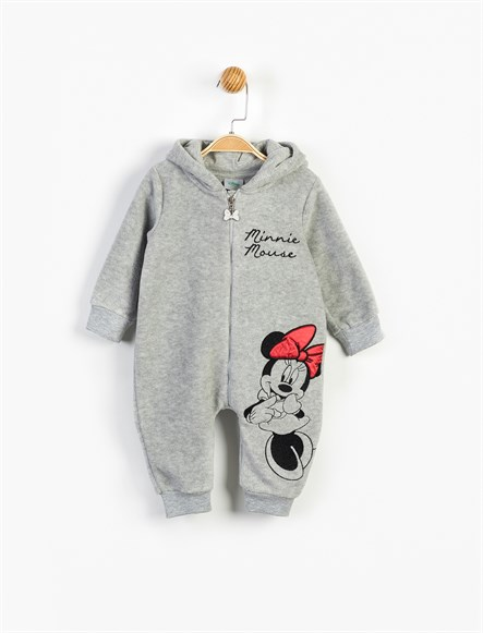 Disney Minnie Mouse Kapüşonlu Polar Tulum 13477