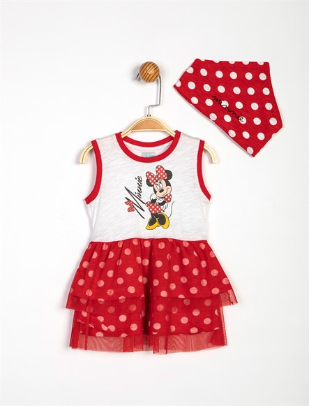 Disney Minnie Mouse Elbise ve Bandana 13958