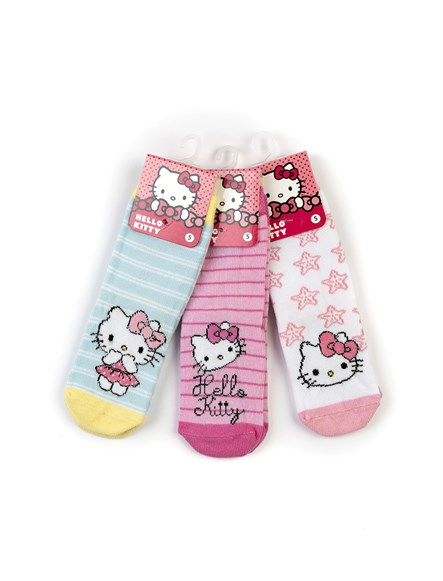 Hello Kitty 6lı Soket Çorap 17006