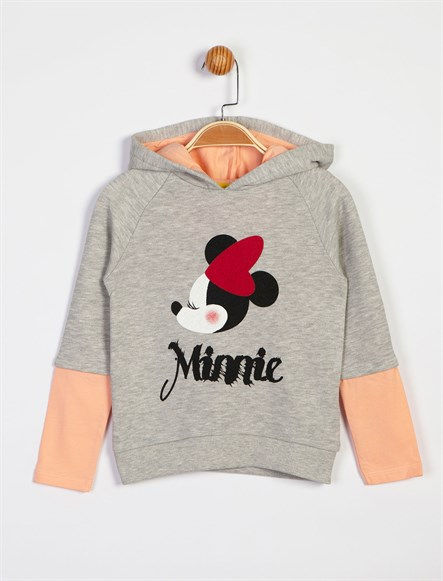 Disney Minnie Mouse Kapüşonlu Sweat 6185